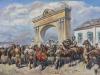 Леонид Доржиевич Семенов У царских ворот из серии Верхнеудинские казаки